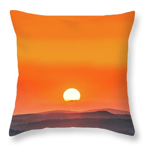 Australia Throw Pillow featuring the photograph Fields Of Haze by Az Jackson