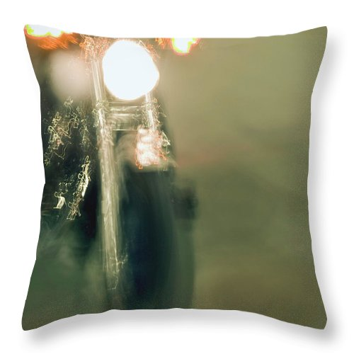 Harley Throw Pillow featuring the painting Fierce by Glennis Siverson