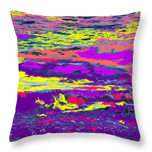 Ocean Throw Pillow featuring the photograph Fiery Passion by Ian MacDonald