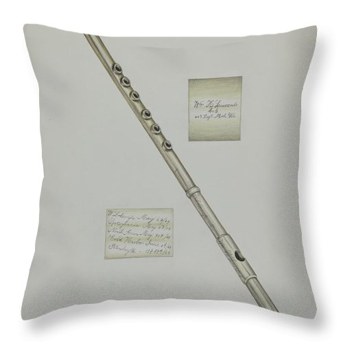 Throw Pillow featuring the drawing Fife by Florence Hastings