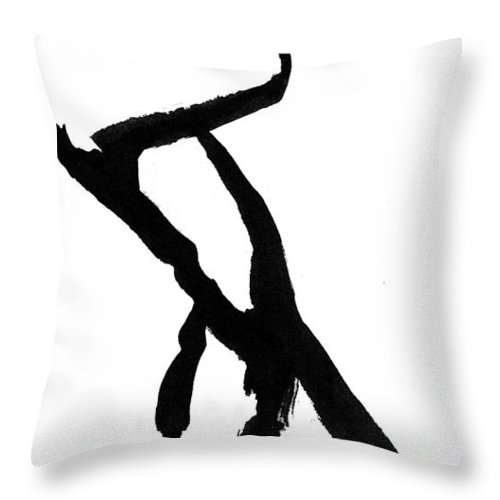 Silhouette Throw Pillow featuring the drawing Figure Silhouette by Nancy Mueller