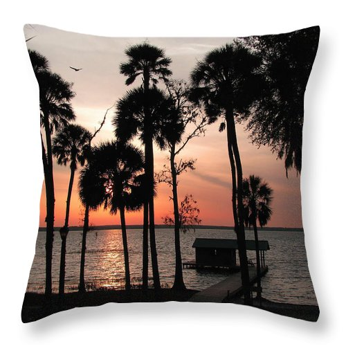 Nature Throw Pillow featuring the photograph Final Glow by Peg Urban