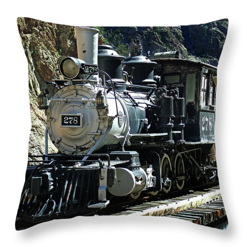 Steam Train Throw Pillow featuring the photograph Final Resting Place by Ken Smith