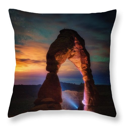 Arches Throw Pillow featuring the photograph Finding Heaven by Darren White
