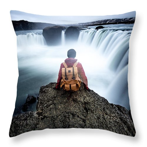 Landscape Throw Pillow featuring the photograph Finding Our Place Of Zen by Lam Tu