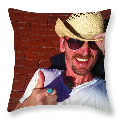 Throw Pillow featuring the photograph Finding Your Brick 2 by Robert J Sadler