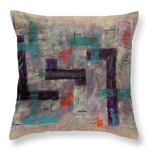 Painting Throw Pillow featuring the painting Finding Your Way by Jim Benest