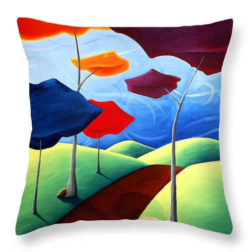 Landscape Throw Pillow featuring the painting Finding Your Way by Richard Hoedl