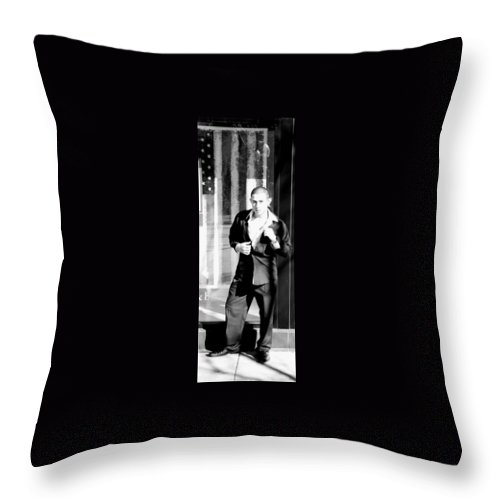 America Throw Pillow featuring the photograph Fine American Model by Angus Hooper Iii