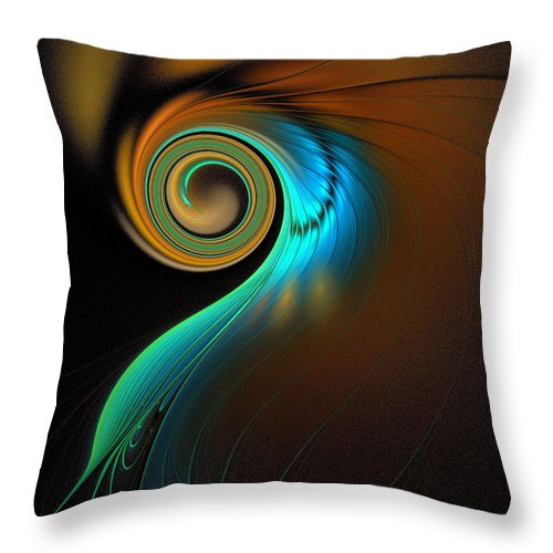 Digital Art Throw Pillow featuring the digital art Fine Feathers by Amanda Moore