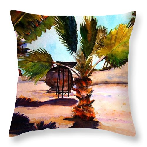 Finesterra Throw Pillow featuring the painting Finesterra by Marti Green