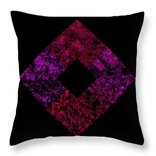 Square Throw Pillow featuring the digital art Fingerprint Of The Unmanifest by Eikoni Images