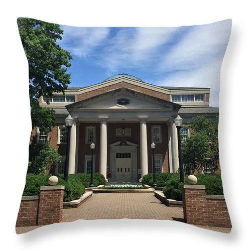 Fintel Library Throw Pillow featuring the photograph Roanoke College - Fintel Library by Andrew Webb