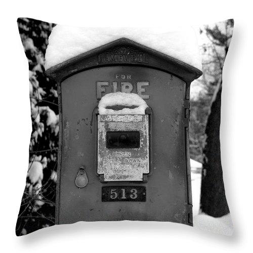 Fire Throw Pillow featuring the photograph Fire Alarm by Mark Grayden