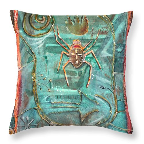Art Throw Pillow featuring the painting Fire Bearer by Patricia Allingham Carlson