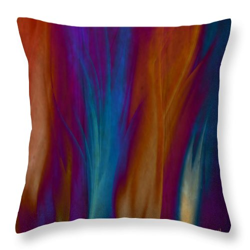 Acrylics Throw Pillow featuring the painting Fire Dance by Gina Lee Manley