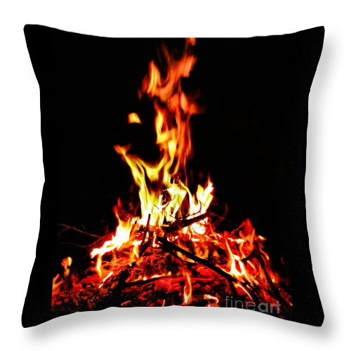 Fire Throw Pillow featuring the photograph Fire Dancer by September Stone