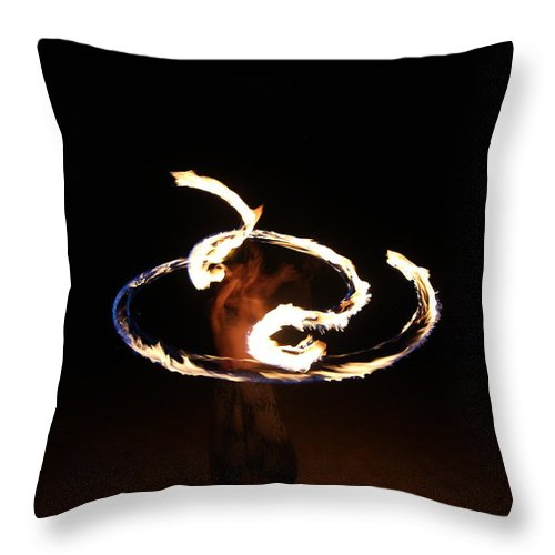Fire Throw Pillow featuring the photograph Fire Dragon by Samantha Burrow