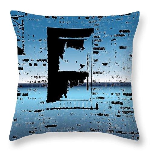 Window Throw Pillow featuring the digital art Fire Escape Window by Tim Allen