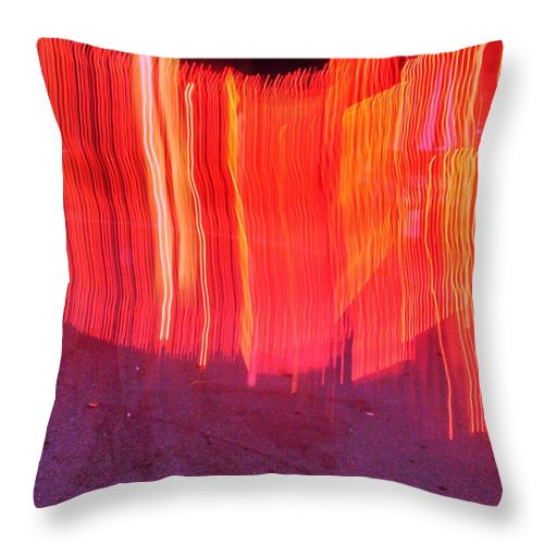 Photograph Throw Pillow featuring the photograph Fire Fence by Thomas Valentine