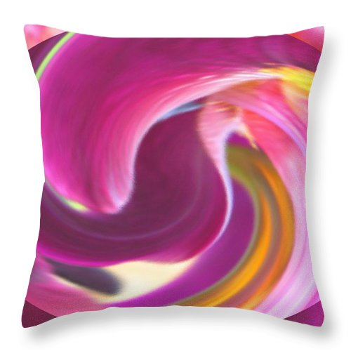 Purple Throw Pillow featuring the digital art Fire In My Soul by Ian MacDonald