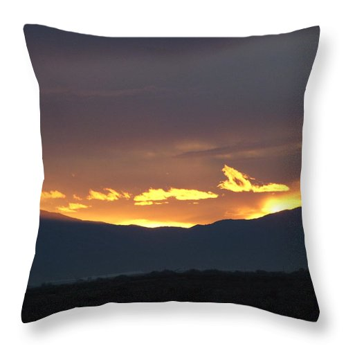 Sunset Throw Pillow featuring the photograph Fire In The Sky by Shari Chavira