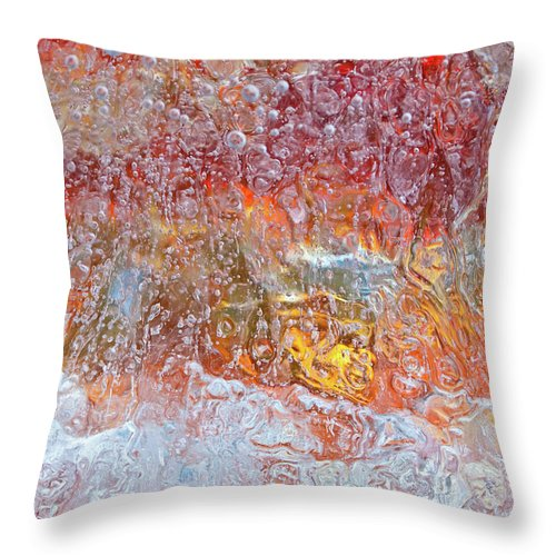 Abstract Throw Pillow featuring the photograph Fire Inside by Shannon Workman