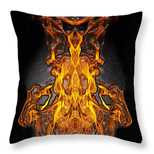 Devil Throw Pillow featuring the photograph Fire Leather by Peter Piatt