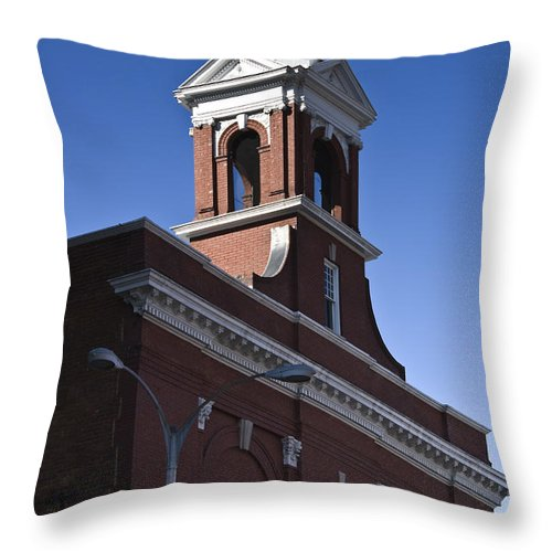 Roanoke Throw Pillow featuring the photograph Fire Station No 1 Roanoke Virginia by Teresa Mucha