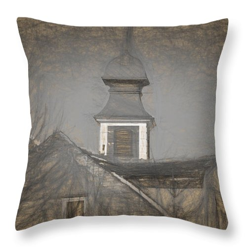 Ancient Throw Pillow featuring the photograph Fire Tower in Old City Sibiu Romania by Adrian Bud