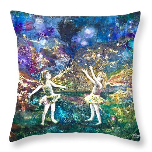 Art Throw Pillow featuring the painting Firefly Frolic by Patricia Allingham Carlson