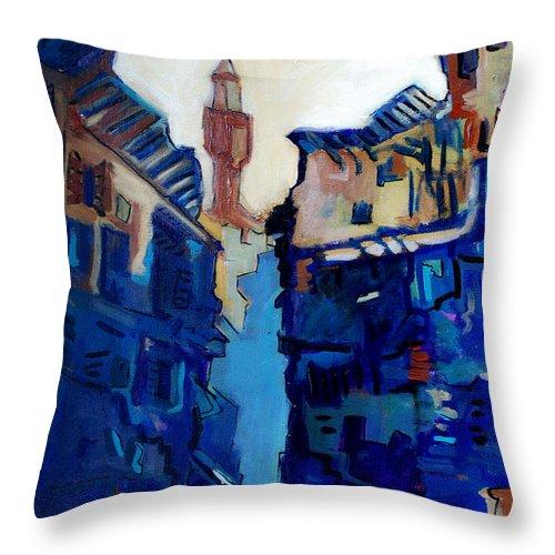 Florence Throw Pillow featuring the painting Firenze Street Study by Kurt Hausmann