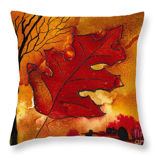 Fire Throw Pillow featuring the painting Firestorm by Susan Kubes