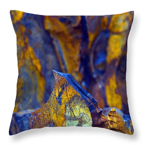 Texture Throw Pillow featuring the photograph First Cut Is The Deepest by Skip Hunt