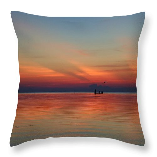 Nature Throw Pillow featuring the photograph First Light by Christi Willard