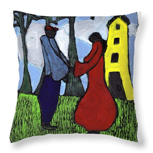 Love Throw Pillow featuring the painting First Love by Wayne Potrafka