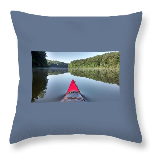Landscape Throw Pillow featuring the photograph First On The Water by Thomas Daley