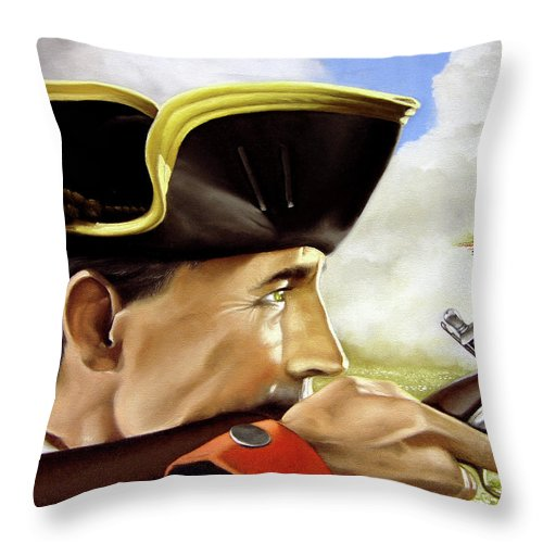 Continental Throw Pillow featuring the painting First To Fight by Marc Stewart