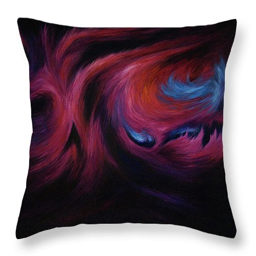 Abstract Throw Pillow featuring the painting First Transcendence by Rachel Christine Nowicki