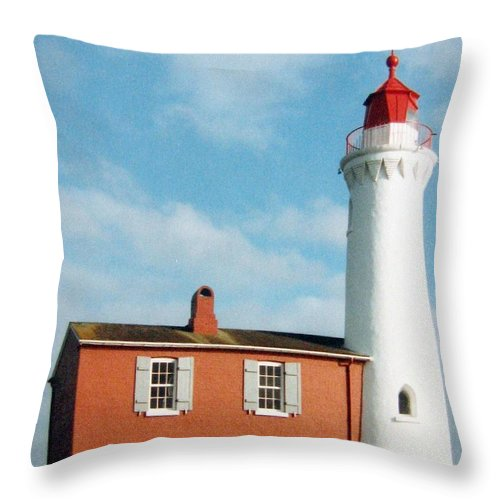 Fisgard Lighthouse Throw Pillow featuring the photograph Fisgard Lighthouse by Will Borden