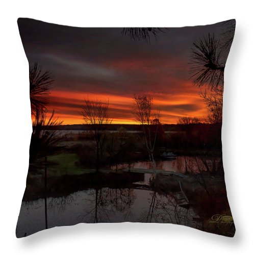 Sunrise Throw Pillow featuring the photograph Fish Hook Sunrise by Michael Johnk
