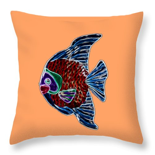 Fish Throw Pillow featuring the photograph Fish In Water by Shane Bechler