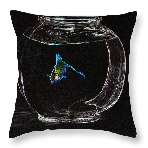 Fish Throw Pillow featuring the photograph Fishbowl by Tim Allen