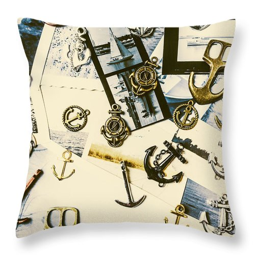 Anchor Throw Pillow featuring the photograph Fishermans Iconography by Jorgo Photography - Wall Art Gallery