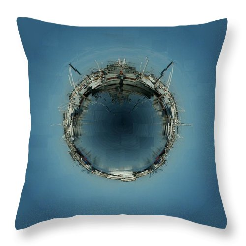 Seattle Throw Pillow featuring the photograph Fishermans Terminal 5 by Tim Allen