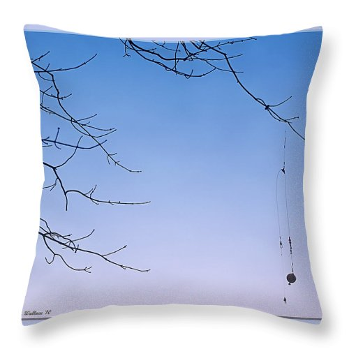 2d Throw Pillow featuring the photograph Fisherman's Trap by Brian Wallace