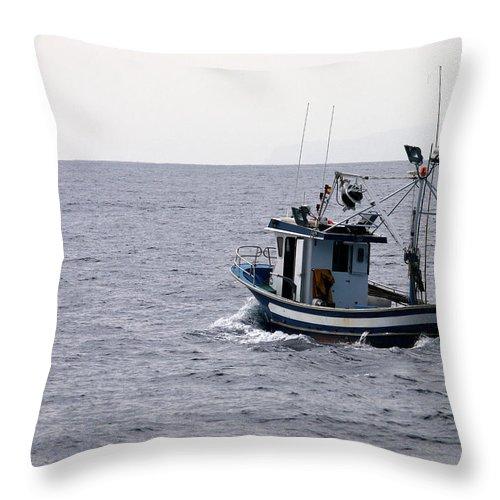 Valasretki Throw Pillow featuring the photograph Fishermen by Jouko Lehto