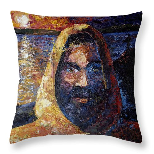 Jesus Throw Pillow featuring the painting Fishers Of Men by Lewis Bowman