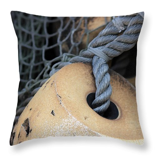 Fishing Throw Pillow featuring the photograph Fishing Net by Mary Haber