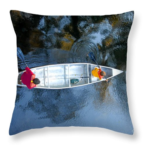 Father Throw Pillow featuring the photograph Fishing Trip by David Lee Thompson